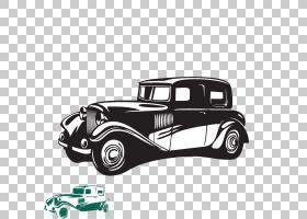 老爷车经典车,创意卡通手绘复古车模式PNG剪贴画水彩画,杂项,紧凑