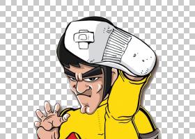 龙:李小龙的故事卡通漫画,李小龙高踢卡通造型PNG剪贴画卡通人物