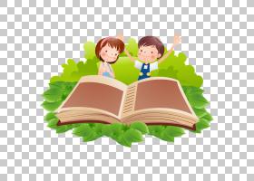 阅读书卡通,卡通儿童PNG剪贴画卡通人物,孩子,人,阅读,电脑壁纸,