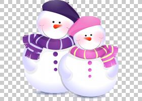 雪人儿童圣诞节,雪人PNG剪贴画杂项,紫色,冬季,摄影,虚构人物,雪,