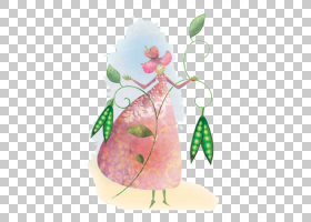 公主和豌豆,手绘豌豆公主PNG剪贴画水彩画,漫画,叶,手绘,王子,花