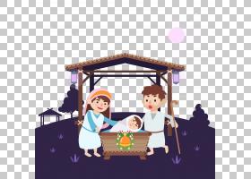 耶稣诞生的诞生,耶稣的诞生PNG剪贴画卡通,家庭,产品,宗教,安拉,