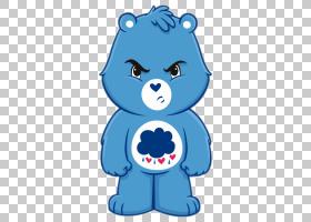 脾气暴躁熊护理熊棕熊,卡通人物PNG剪贴画蓝色,哺乳动物,动物,car