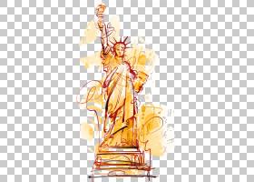 自由女神像卡通,手,画自由女神像PNG剪贴画水彩画,海报,生日快乐
