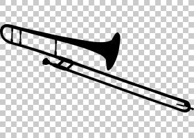 长号乐器,卡通黑色小号PNG剪贴画铜管乐器,运动器材,免版税,剪影,
