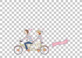 自行车骑自行车卡通,一对夫妇骑自行车PNG剪贴画模板,情侣,爱情侣