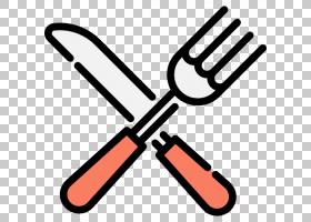刀叉餐具厨房用具图标,刀叉PNG剪贴画厨房,食品,卡通,封装PostScr