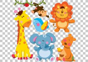 长颈鹿卡通动物,卡通动物,各种动物贴纸PNG剪贴画卡通人物,儿童,