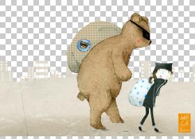 艺术绘画儿童帆布,手,画熊儿童小偷PNG剪贴画水彩绘画,哺乳动物,