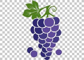 葡萄紫色动画,紫色卡通葡萄PNG剪贴画卡通人物,食品,叶,紫罗兰色,