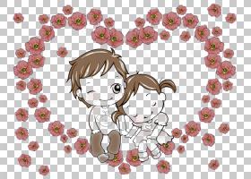 动画绘图卡通,甜蜜的情侣PNG剪贴画爱,哺乳动物,心,夫妇,脊椎动物