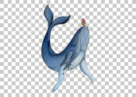 蓝鲸绘画水彩画,卡通蓝鲸PNG剪贴画卡通人物,蓝色,海洋哺乳动物,