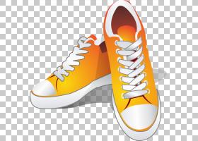 鞋运动鞋,黄色鞋PNG剪贴画橙色,时尚,匡威,黄色鲜花,女鞋,卡通,版