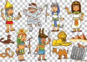 古埃及皇族,,埃及PNG剪贴画孩子,埃及,世界,虚构人物,卡通,版税免