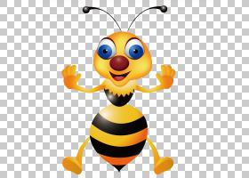 蜜蜂大黄蜂黄蜂,可爱的蜜蜂PNG剪贴画蜜蜂,昆虫,卡通,版税,蜜蜂矢