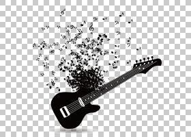 吉他,创意吉他,黑色吉他PNG剪贴画飞溅,海报,创意图稿,单色,生日