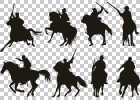马剪影骑士骑兵,黑骑士PNG剪贴画黑头发,黑白色,头,卡通,黑色,武