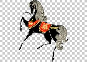 马女孩,卡通黑马PNG剪贴画马,卡通人物,哺乳动物,动物,脊椎动物,