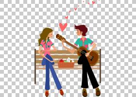 吉他股票,吉他卡通夫妇PNG剪贴画卡通人物,摄影,情侣,爱情侣,男孩