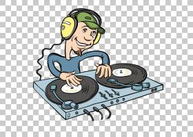 唱片骑师卡通音乐,卡通DJ PNG剪贴画卡通人物,漫画,版税,卡通眼睛