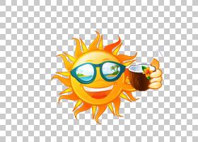 喝,卡通太阳PNG剪贴画卡通人物,食品,画,手,橙色,徽标,电脑壁纸,