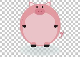 国内猪动物标签,可爱粉红猪创意边框边框PNG剪贴画框架,哺乳动物,