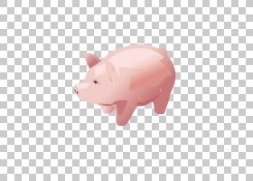 国内猪粉红色存钱罐蝴蝶,小猪,存钱罐,日常用品PNG剪贴画哺乳动物