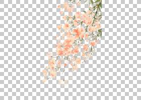 水彩画花,古代美丽的水彩,樱花树PNG剪贴画水彩画叶子,插花,中国