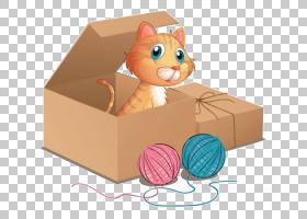 猫小猫盒,卡通框PNG剪贴画中的猫动物,猫像哺乳动物,食肉动物,摄