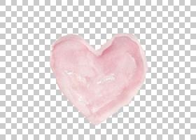 水彩绘画心脏,水彩心脏,桃红色心脏艺术品PNG clipart爱,水彩叶子