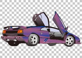 汽车动画,卡通手绘紫色高贵跑车PNG剪贴画水彩绘画,卡通人物,手,