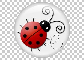 瓢虫瓢虫,卡通瓢虫装饰按钮PNG剪贴画卡通人物,剪纸,昆虫,圣诞节