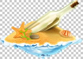 沙贝壳,卡通漂流瓶PNG剪贴画卡通人物,海滩,材料,免版税,卡通眼睛