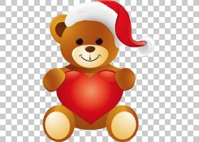 泰迪熊,棕熊娃娃PNG剪贴画爱,棕色,动物,帽子,心,卡通,虚构人物,r