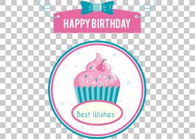 生日蛋糕生日贺卡,手绘卡通甜点标签PNG剪贴画卡通人物,食品,文本