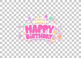 生日蛋糕祝你生日快乐贺卡,生日快乐英文字体设计PNG剪贴画爱,文