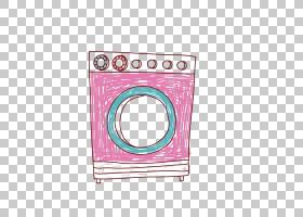 洗衣机衣物烘干机,红色洗衣机PNG剪贴画电子产品,矩形,生日快乐矢