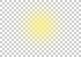 浅黄色光晕发光功效,太阳光线,黄色模糊颜色PNG剪贴画纹理,角度,