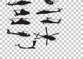直升机欧几里德西科斯基UH,60黑鹰,直升机PNG剪贴画单色,飞机,直