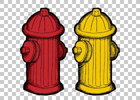 消防栓卡通版税,卡通手绘消防栓PNG剪贴画水彩绘画,卡通人物,用品