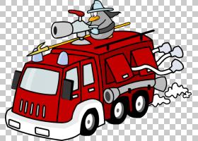 消防车消防员,消防部门PNG剪贴画卡车,汽车,运输方式,卡通,虚构人