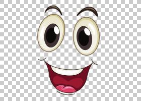 眼睛嘴卡通脸,快乐的脸,微笑的脸PNG剪贴画画,脸,人民,生日快乐矢