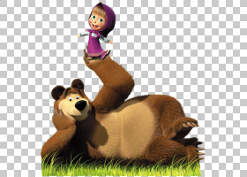 熊拼图桌面显示分辨率,玛莎,女性卡通人物和熊PNG剪贴画儿童,哺乳