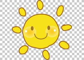 笑脸图标,手绘黄色笑脸太阳PNG剪贴画水彩画,杂项,画,离开材料,脸