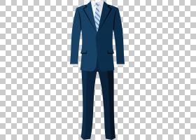 燕尾服西装外套西装外套服装,卡通西装PNG剪贴画卡通人物,蓝色,生