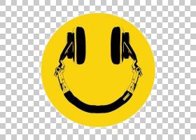 笑脸图释音乐唱片骑师图标,微笑PNG剪贴画脸,文字,人民,8tracksco