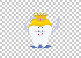 牙冠磨牙,手绘牙齿黄冠PNG剪贴画水彩画,白色,牙科,手绘,卡通,虚