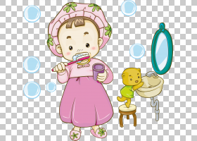 牙刷,女孩刷牙PNG剪贴画孩子,时尚女孩,人,幼儿,牙科,虚构人物,卡