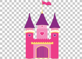 睡美人城堡米妮老鼠灰姑娘城堡迪士尼公主,卡通城堡的PNG剪贴画洋