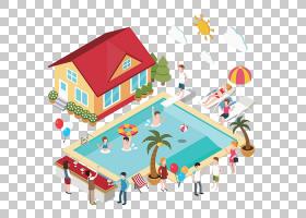 游泳池,游泳池和房子PNG剪贴画卡通,体育,封装PostScript,属性,游